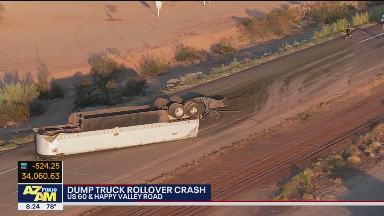 Semi-truck rollover crash closes U.S. 60 near Surprise
