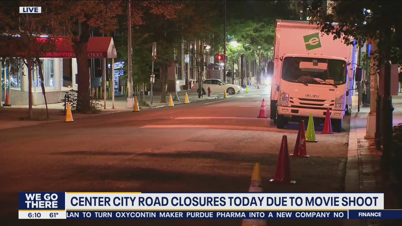 Center City road closures Monday due to movie shoot