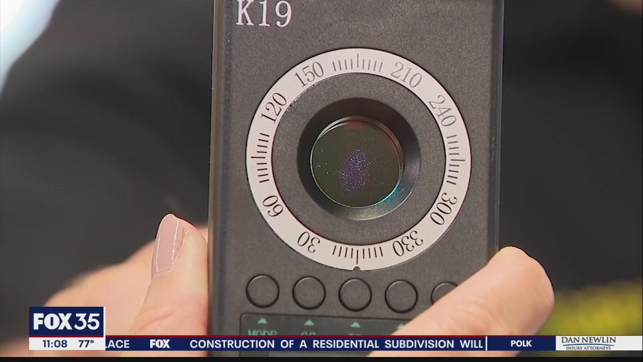 Victim: Spy camera placed near bedroom window