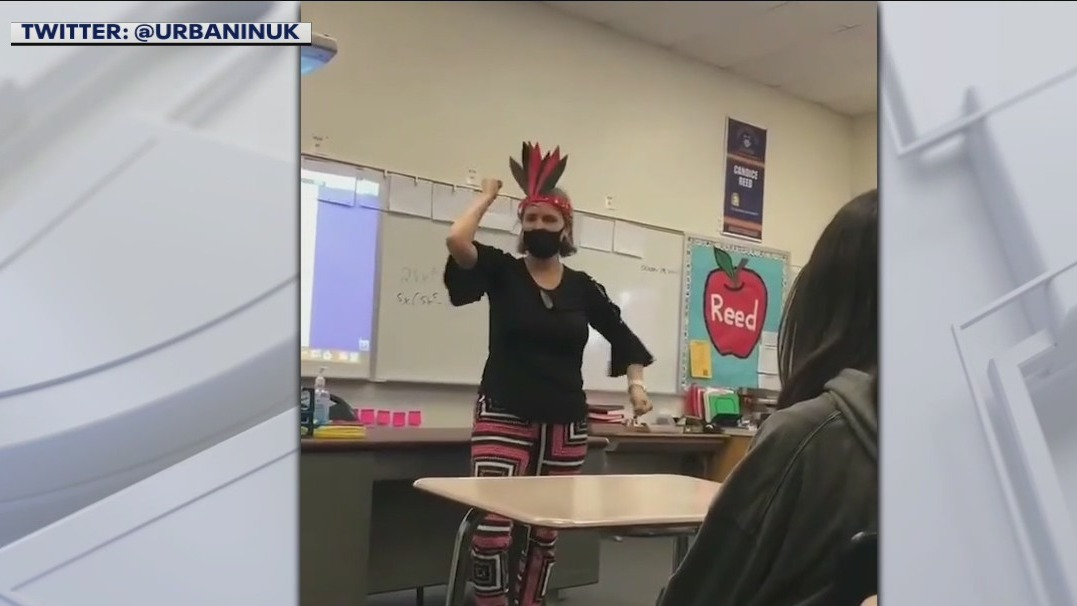 California teacher caught on video mocking Native American culture