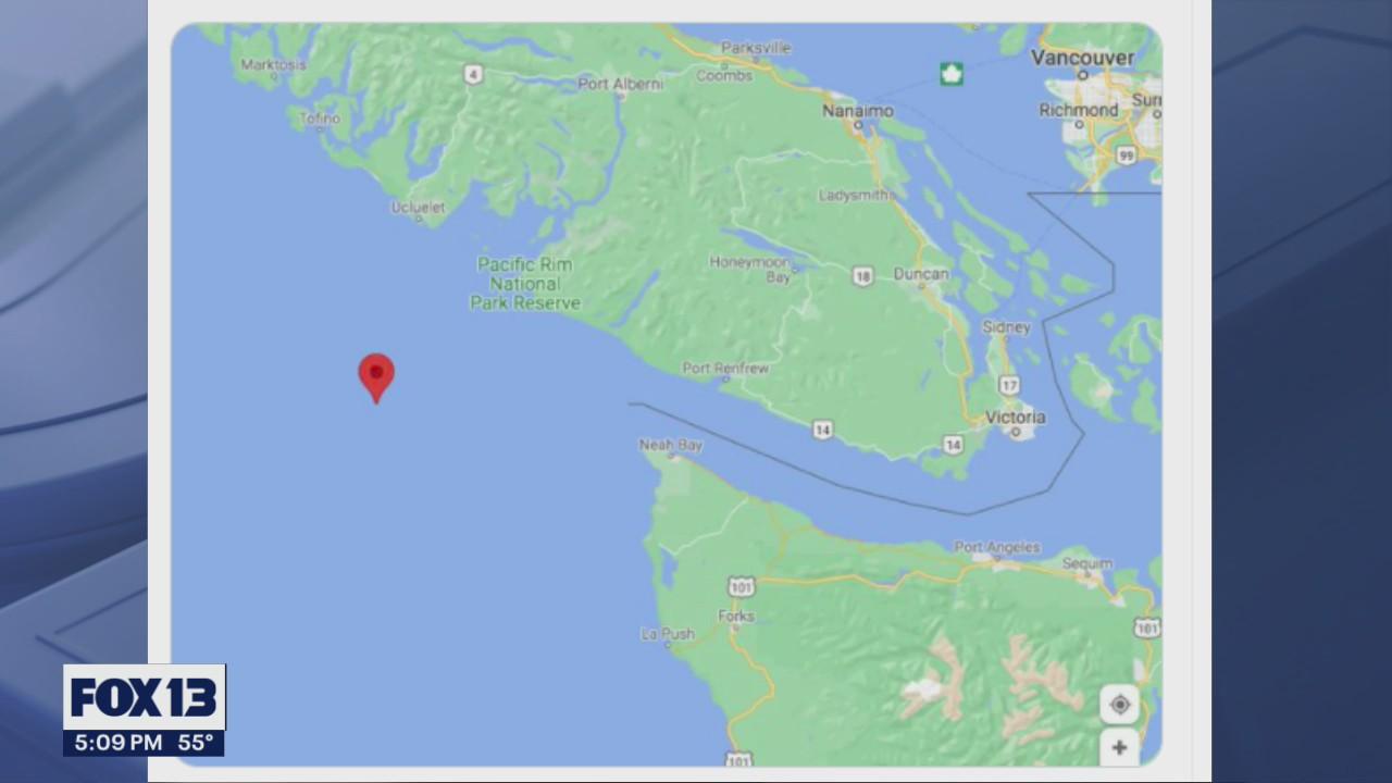 Rough seas knock 40 shipping containers into Pacific Ocean near Strait of Juan de Fuca