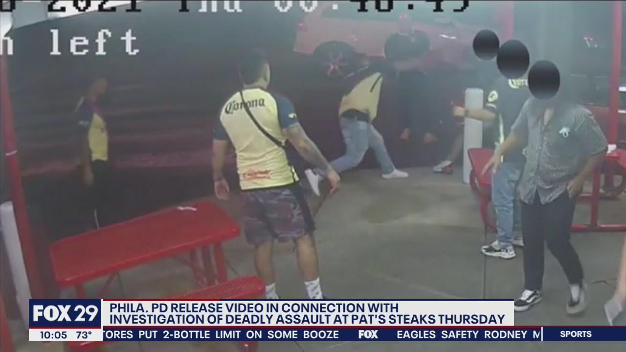 VIDEO: 4 suspects sought in deadly brawl outside Pat's Steaks