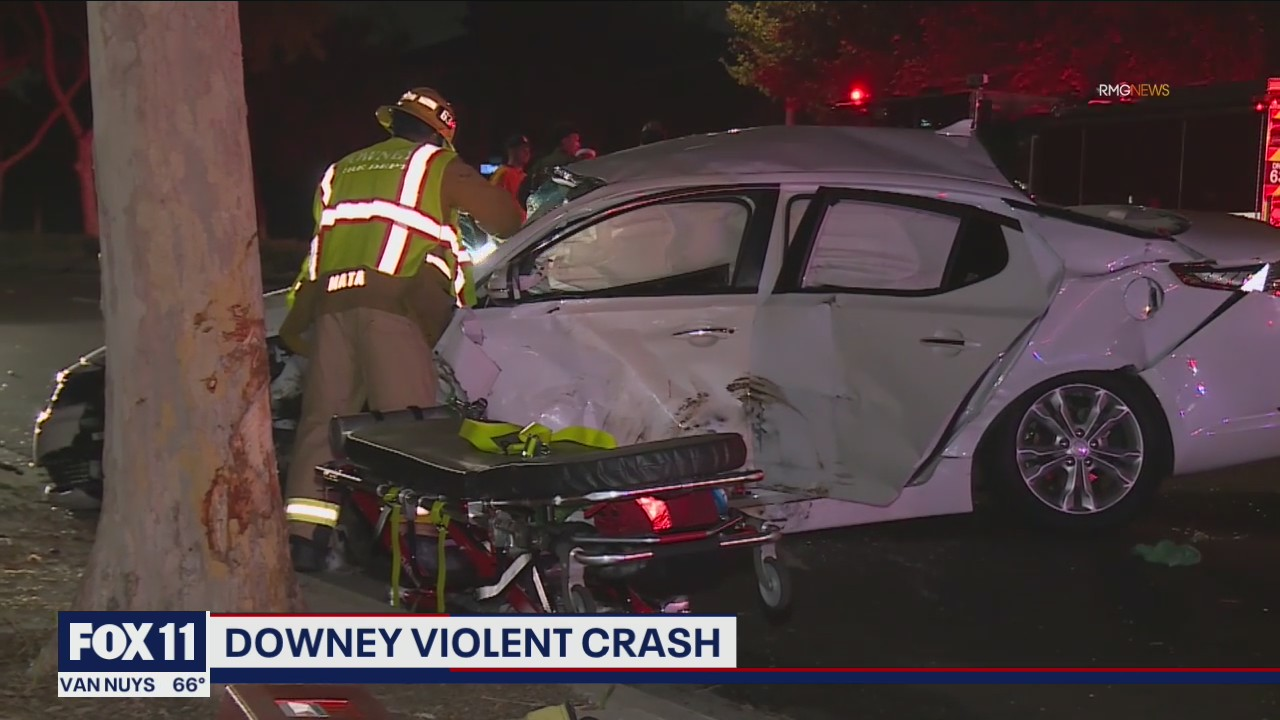 Violent crash in Downey may have been caused by street racing
