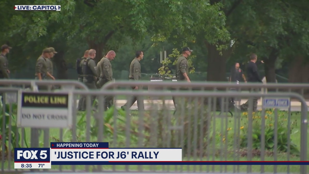 Fences, cops, National Guard members protecting Capitol ahead of 'Justice for J6' rally