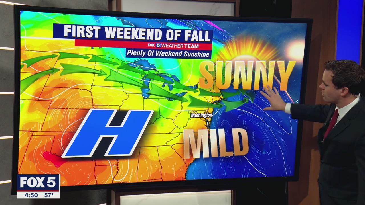 FOX 5 Weather forecast for Friday, September 24