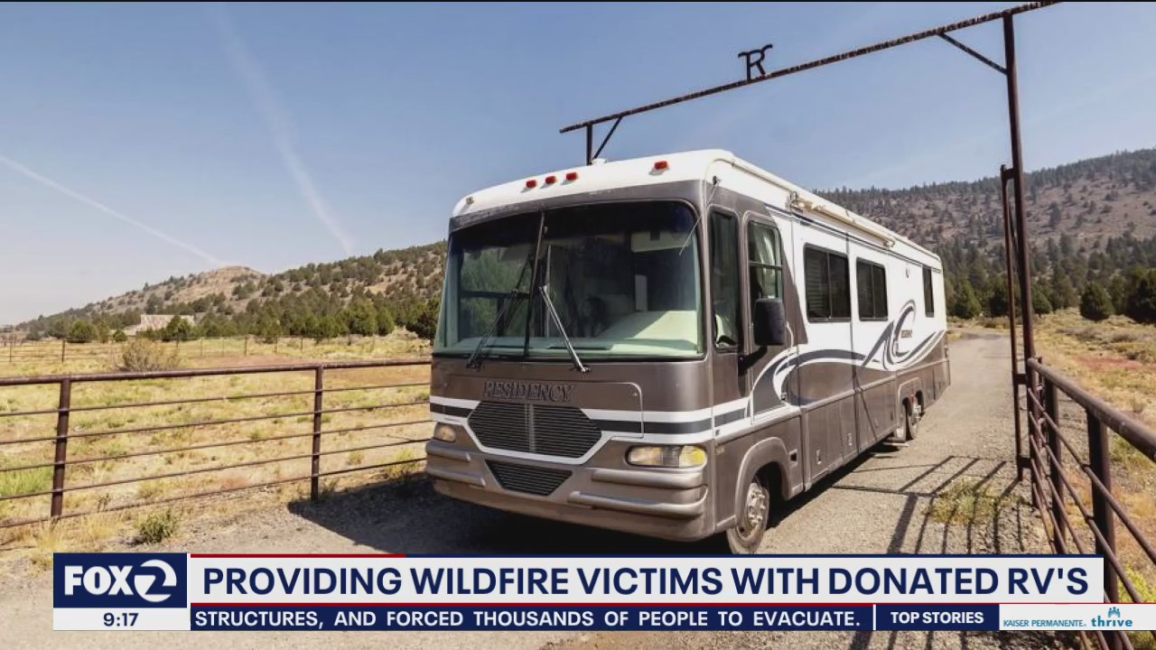 Emergency RVs provided for some wildfire survivors