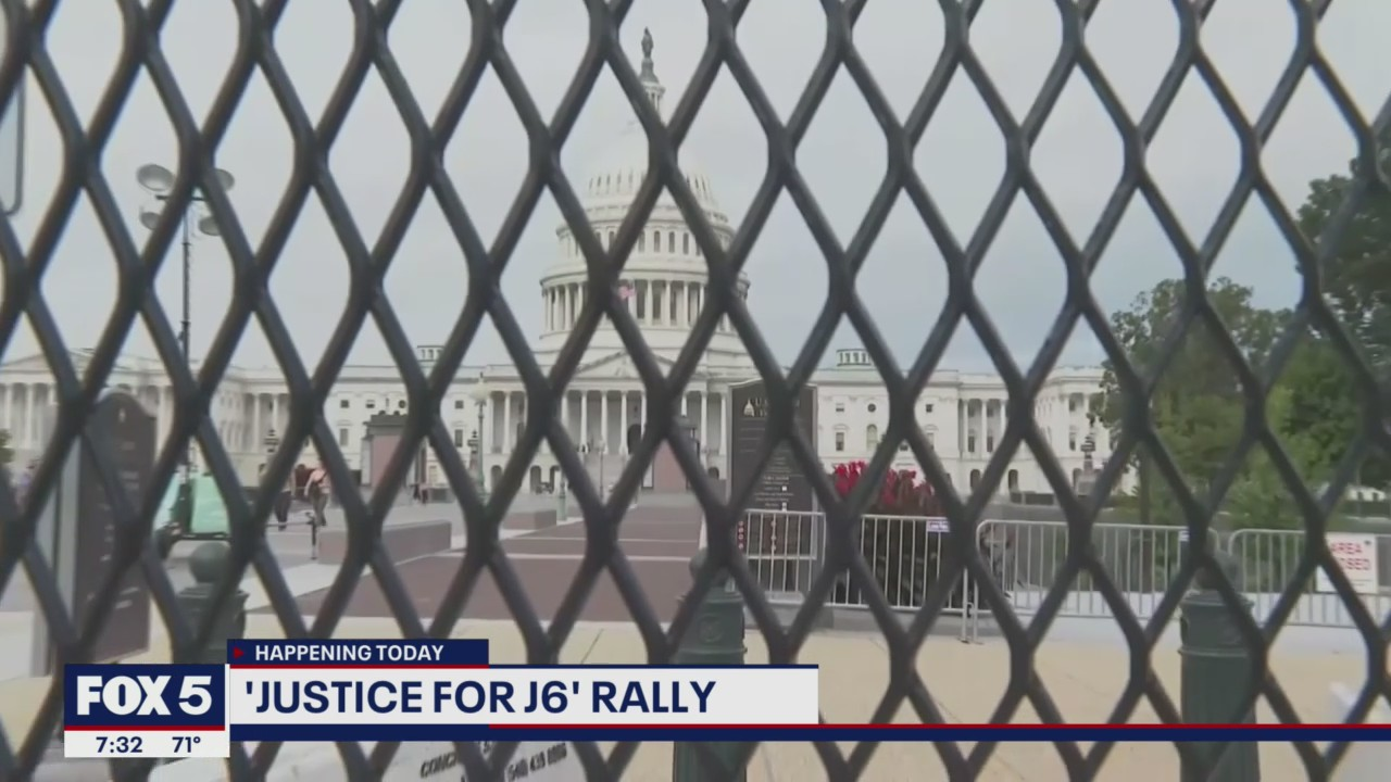 Heavy law enforcement presence on Capitol Hill ahead of 'Justice for J6' rally