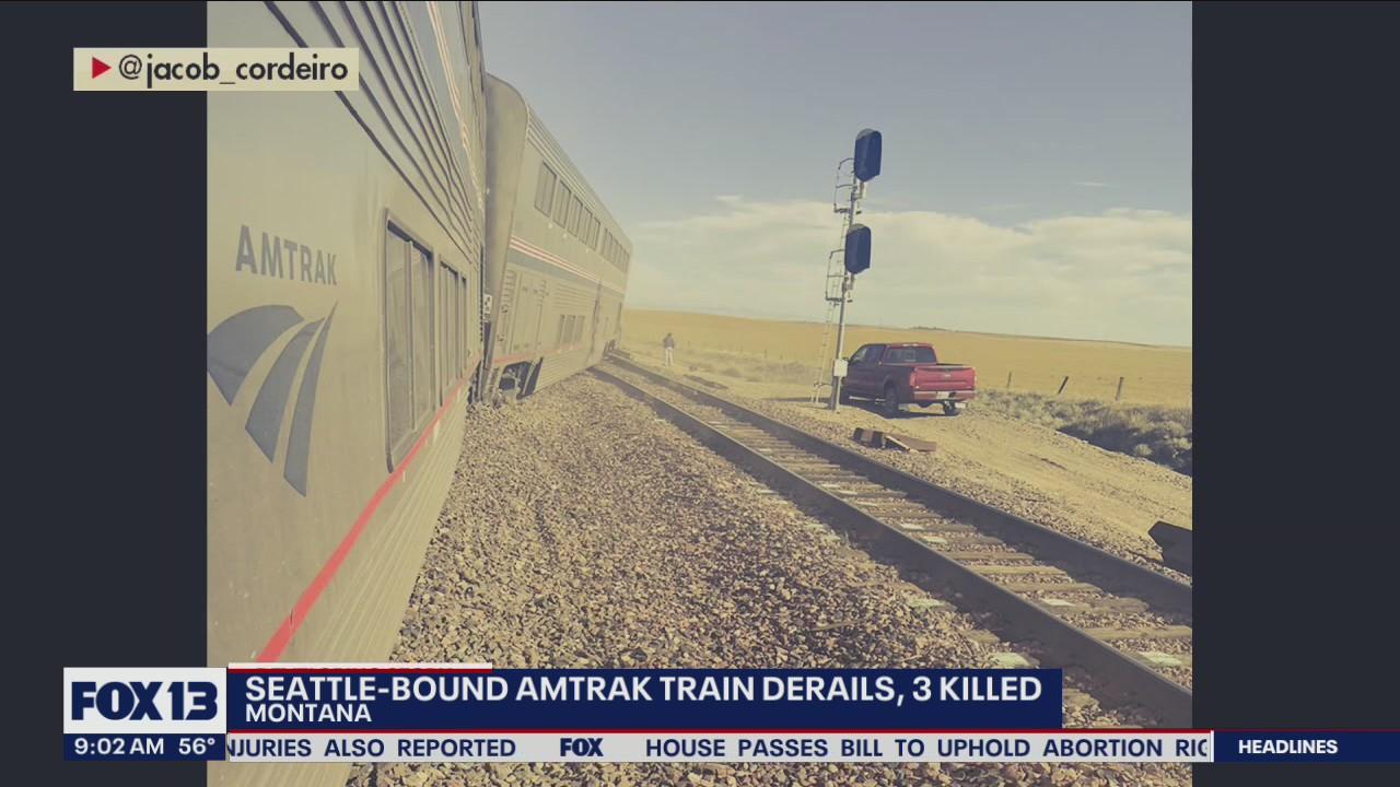 Seattle-bound Amtrak train derails, kills three