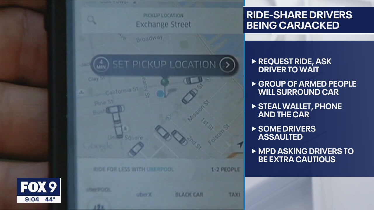 MPD: Uber, Lyft drivers being targeted by carjackers