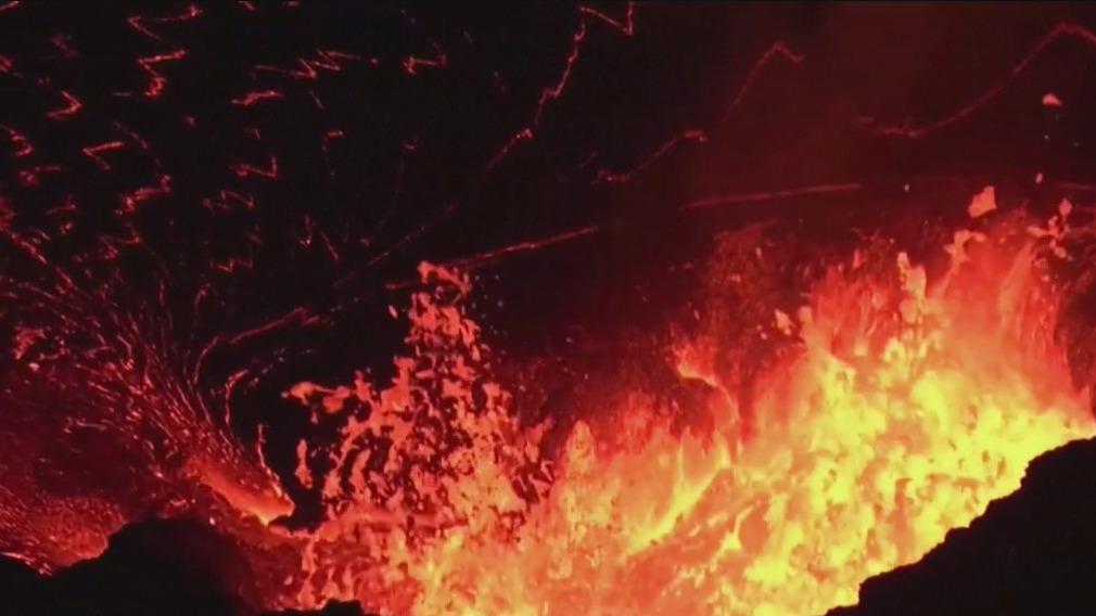 Kilauea volcano continues to spew lava