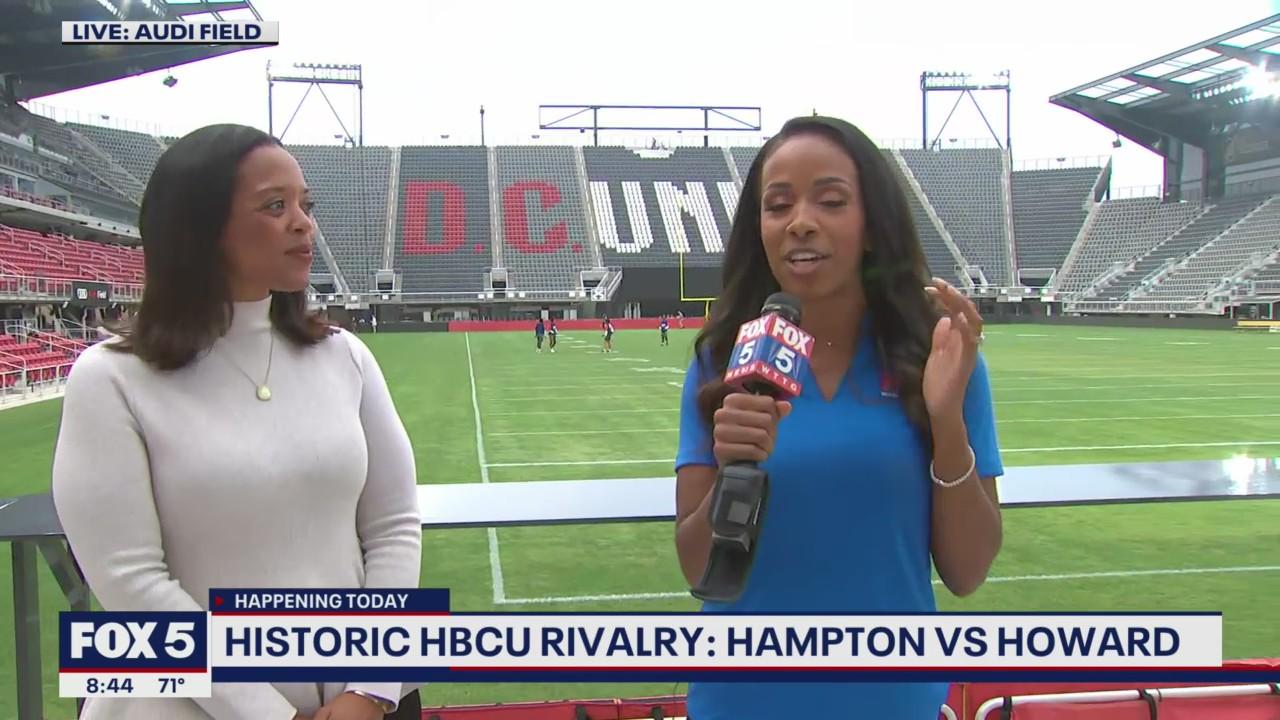 Historic rivalry game between Howard and Hampton at Audi Field