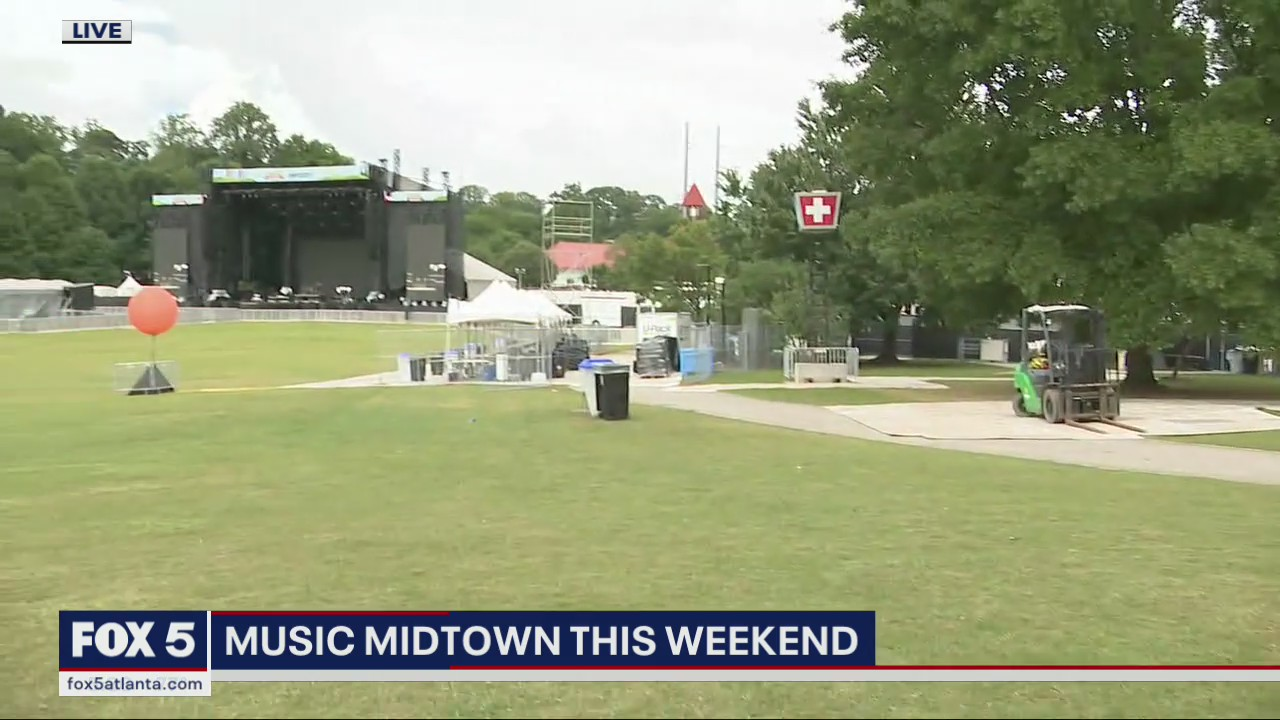 Mostly cloudy, with possible rain showers for Music Midtown