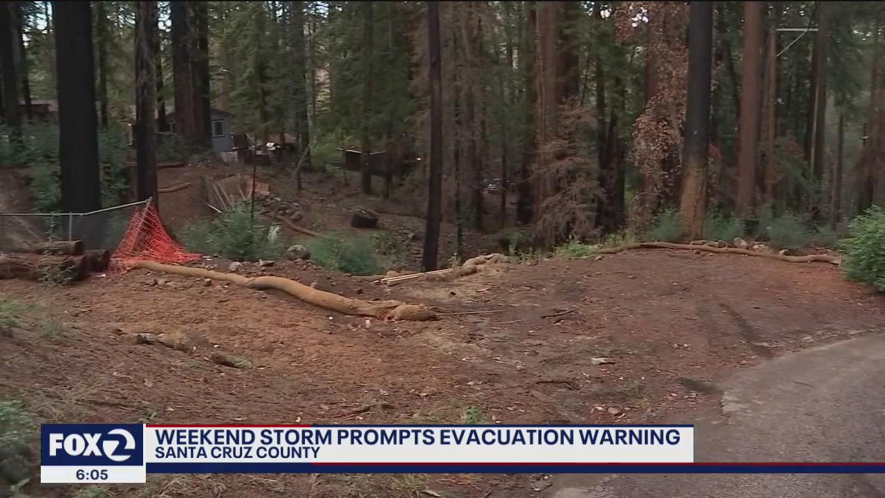 Evacuation warnings and orders issued in San Mateo and Santa Cruz counties