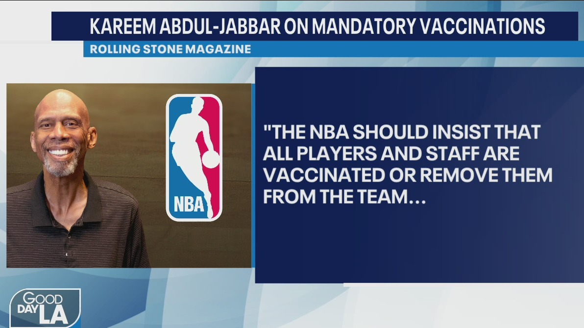 Get vaccinated or get benched: Kareem Abdul-Jabbar urges COVID-19 vaccine mandate in the NBA