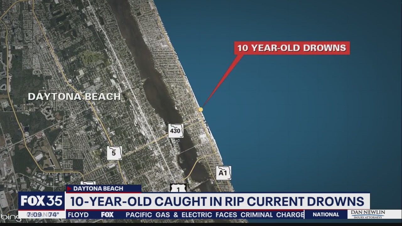 10-year-old Florida boy dies after getting caught in rip current, officials say