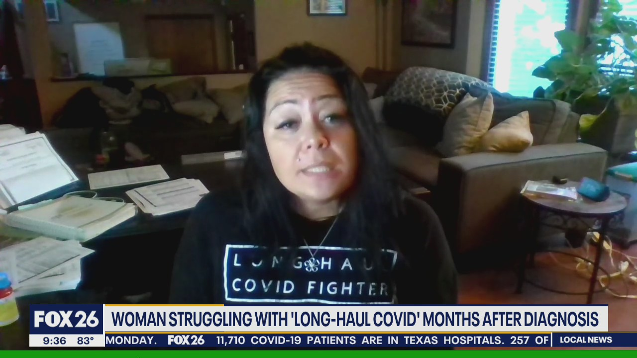 Woman struggling with 'long-haul COVID' months after diagnosis