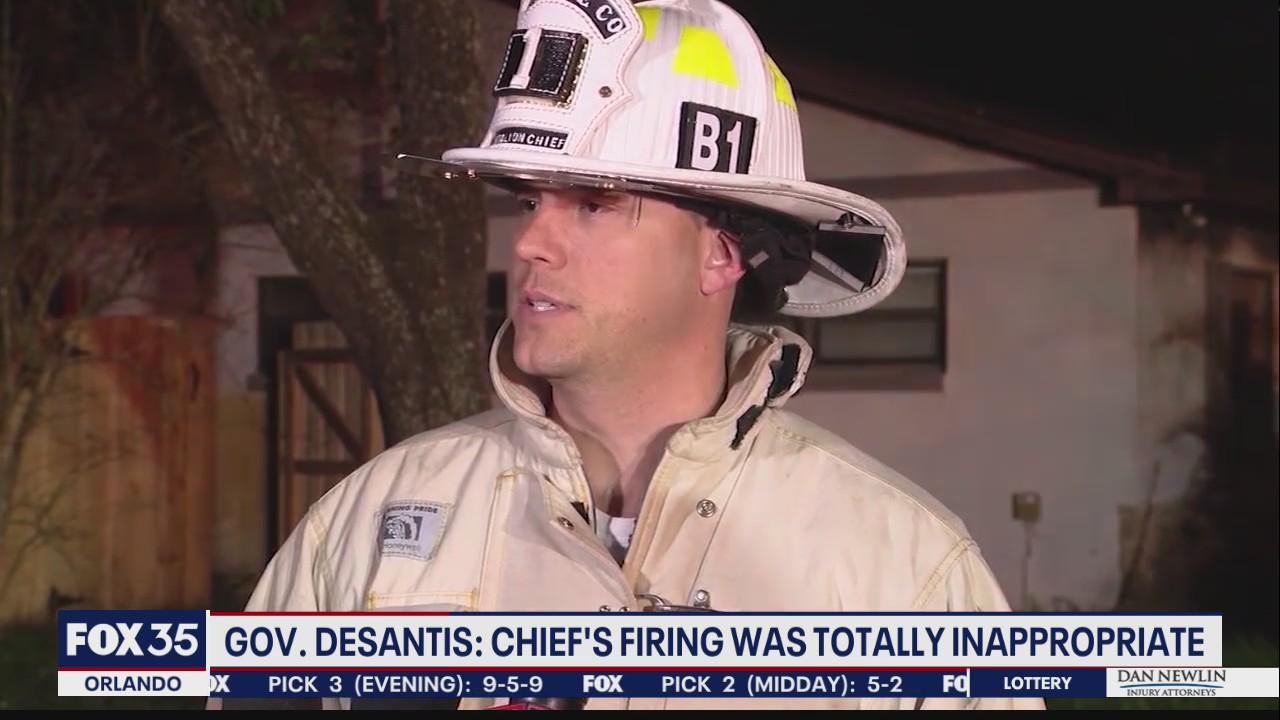 DeSantis sounds off on fire chief's termination