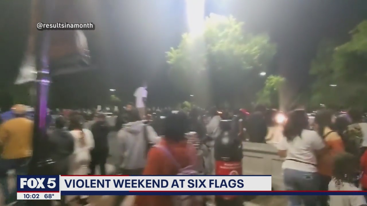 Videos show chaos, violence at Six Flags America Fright Fest in Prince George's County