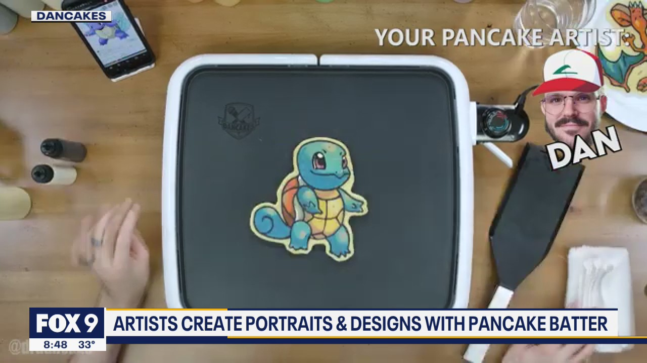 Pancake art featured at the Mall of America