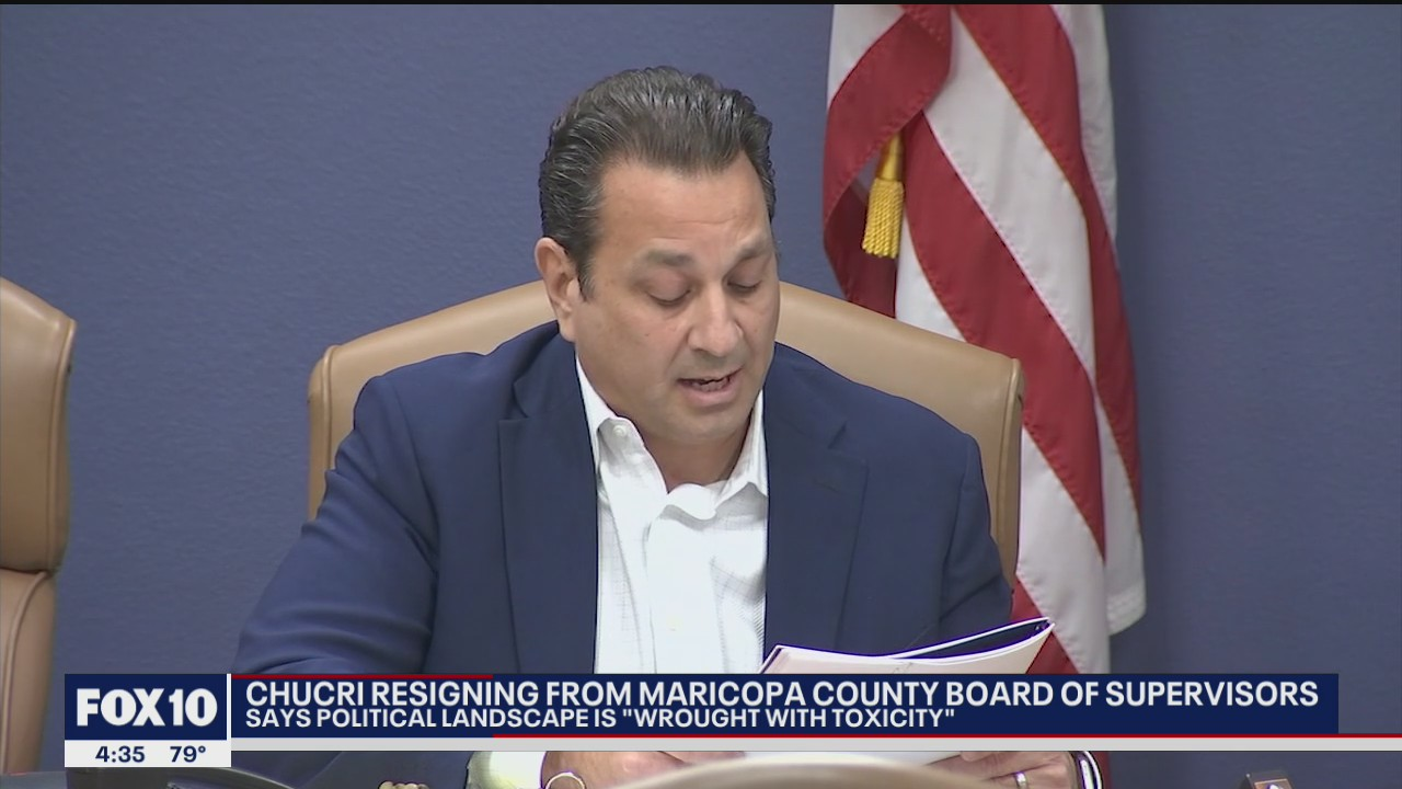 Maricopa County Supervisor Steve Chucri to resign after secret recording released