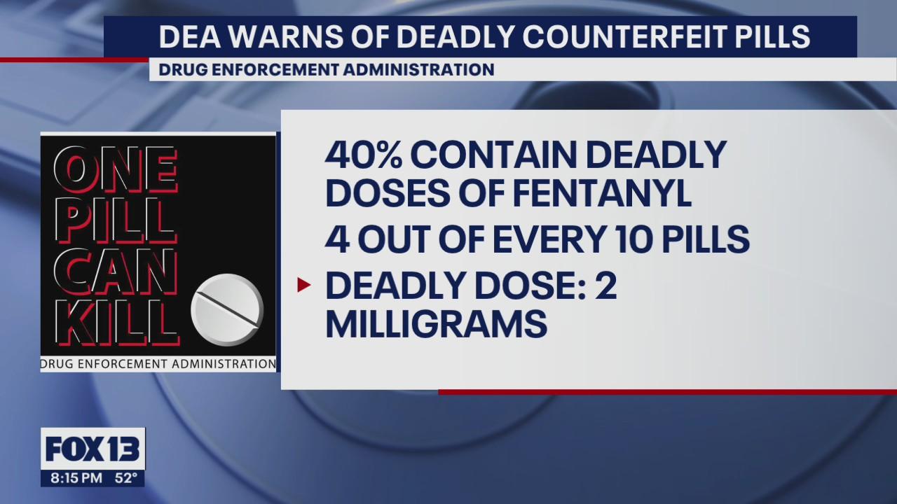 DEA warns of deadly counterfeit pills