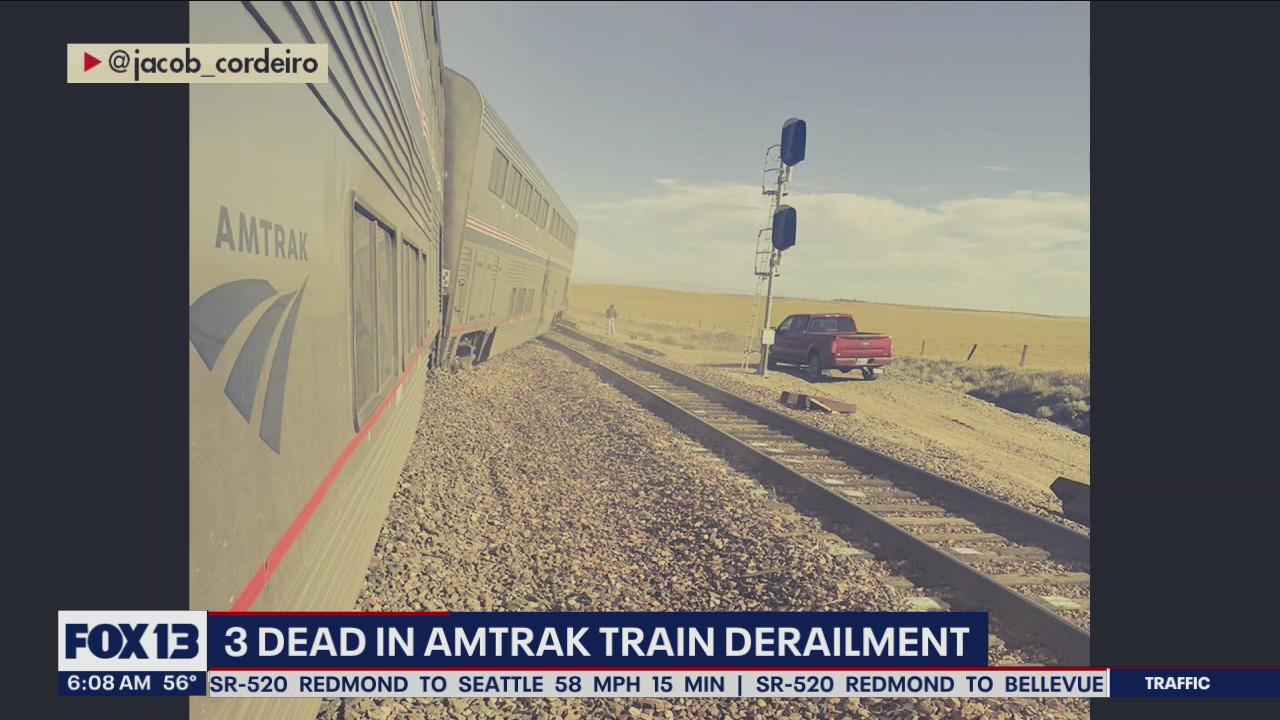 3 killed in Amtrak train derailment in Montana