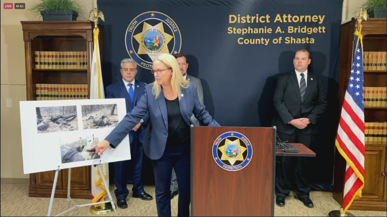 Shasta County District Attorney announces criminal charges against PG&E for starting wildfires