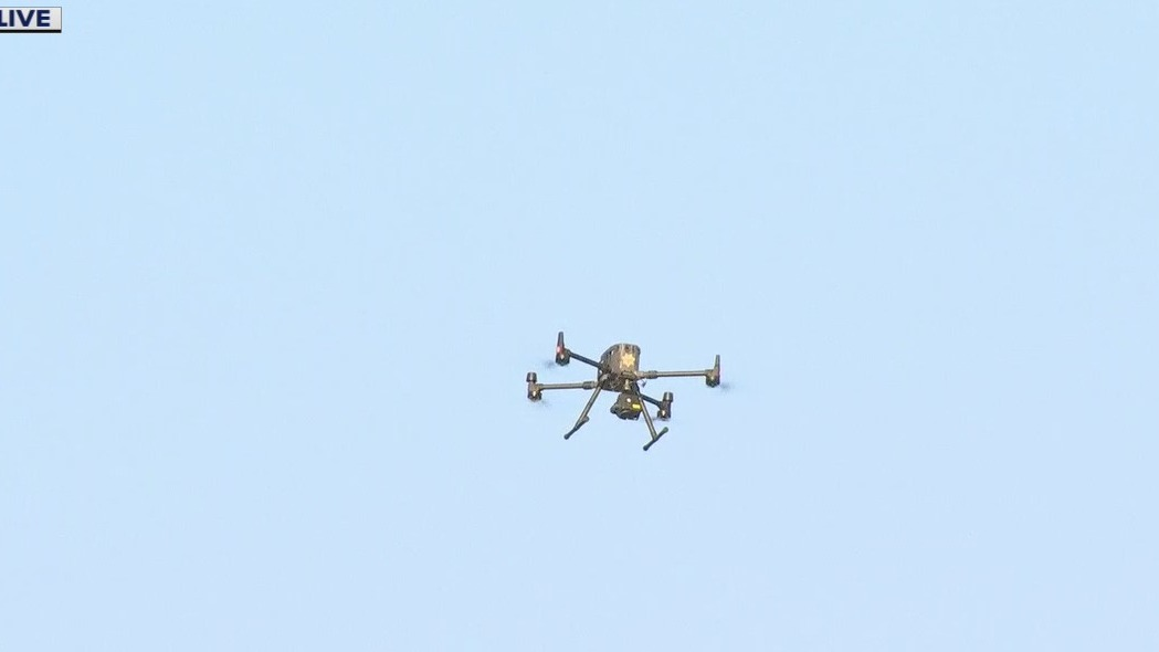 Drone searches for mountain lion in Daly City
