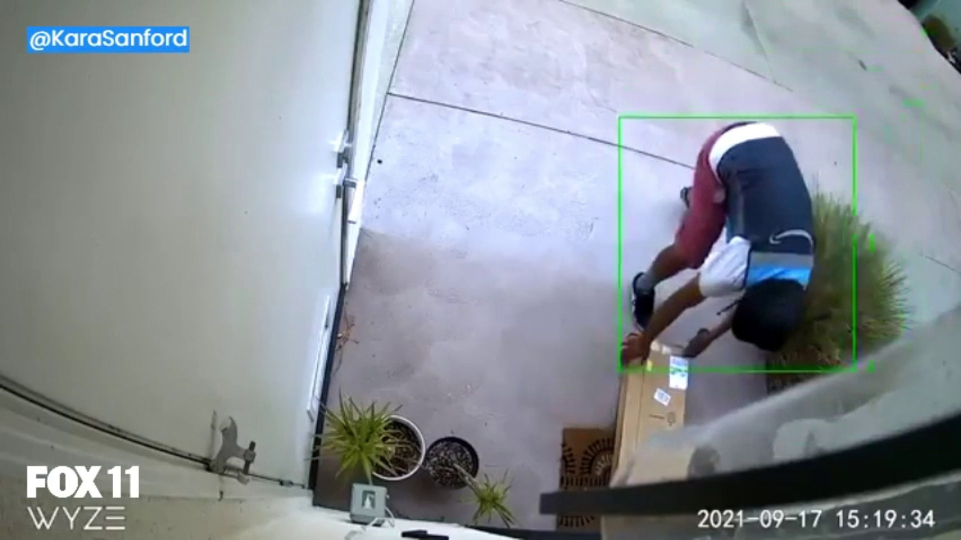 Woman claims Amazon driver stole package seconds after the worker delivered at door