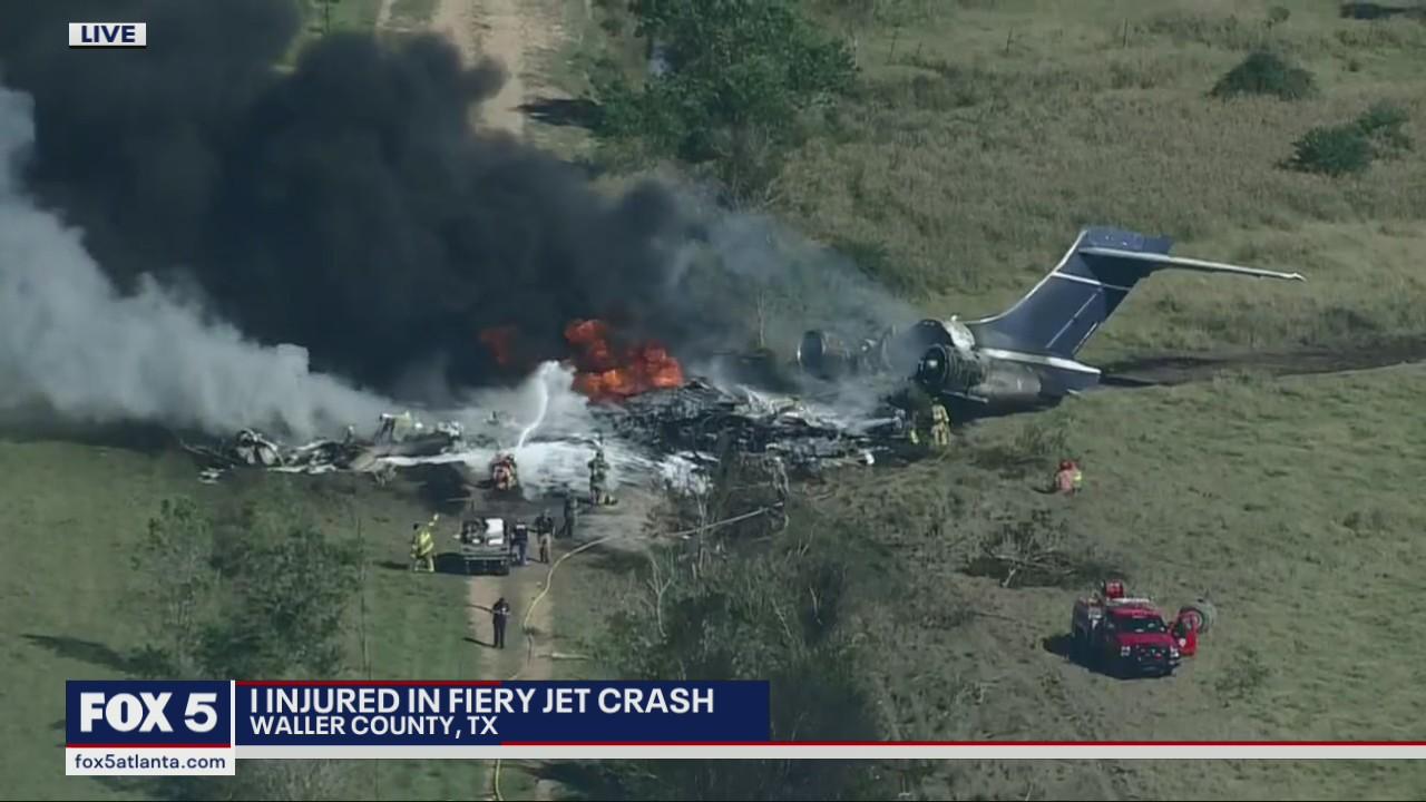 No one killed in wake of fiery plane crash outside Houston, TX