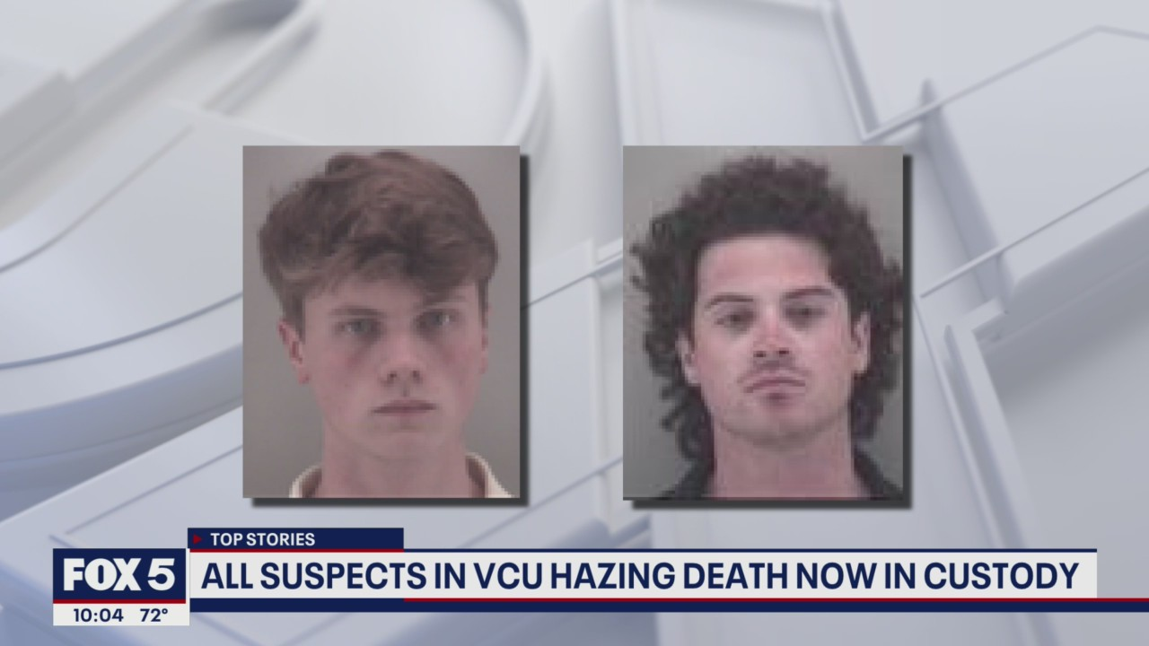 3 fraternity members indicted in VCU student's hazing death turn themselves in