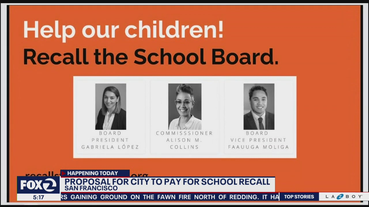 San Francisco supervisor wants city to pay for recall