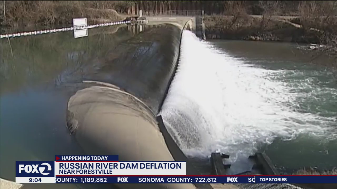 Russian River dam to be deflated today ahead of atmospheric river