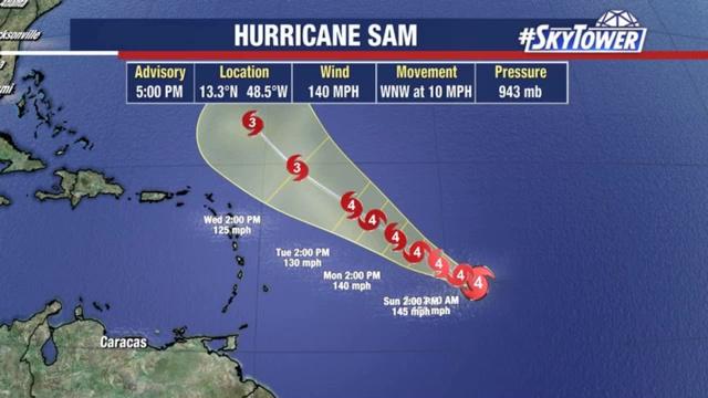 Hurricane Sam and Tropics Update; September 25, 2021