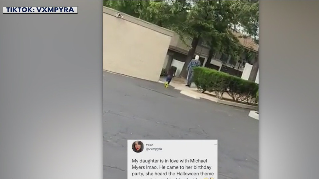4-year-old girl runs into the arms of Michael Myers