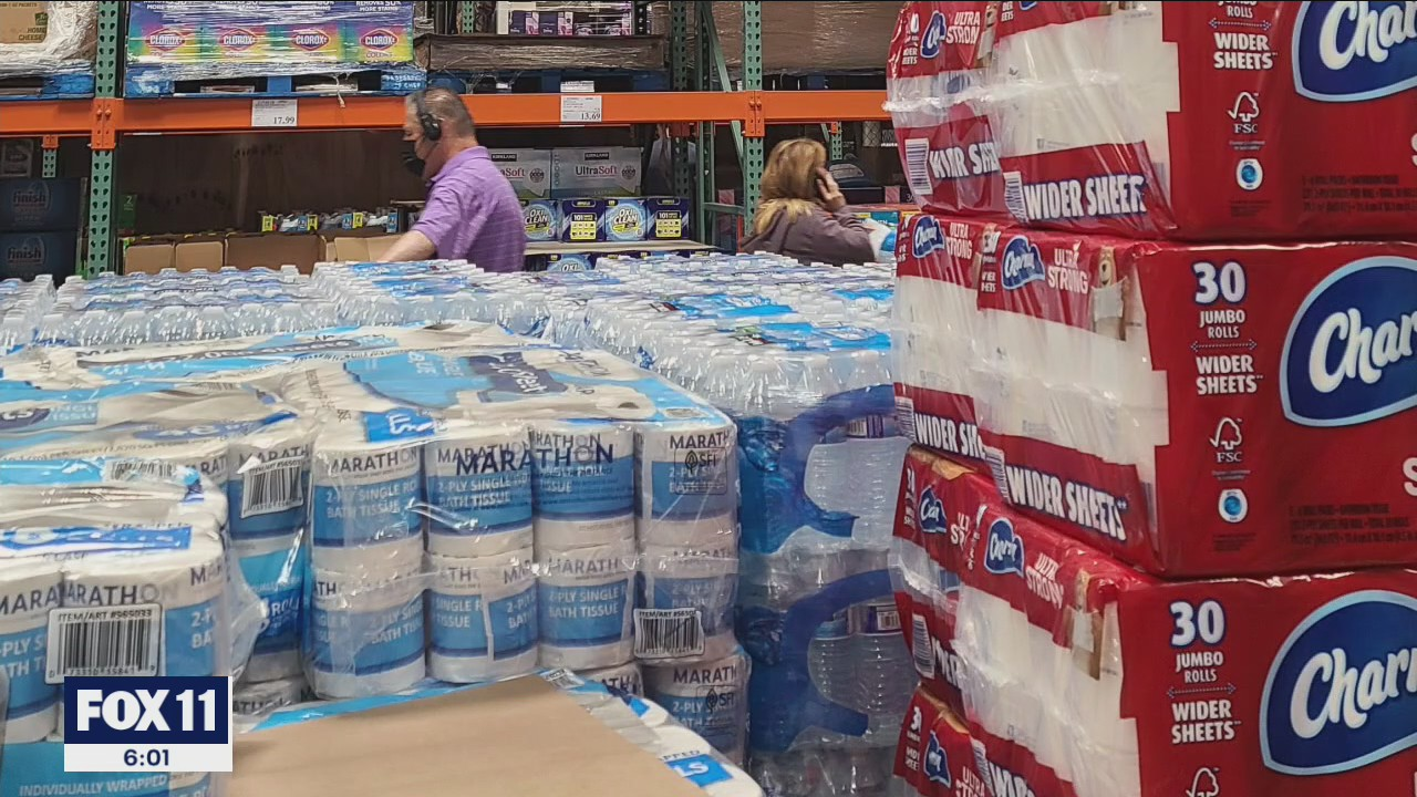 Costco putting purchase limits on paper goods, water