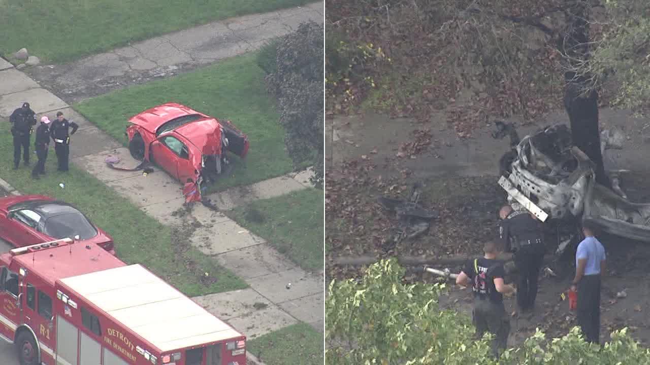 Investigators on scene of horrific crash in Detroit