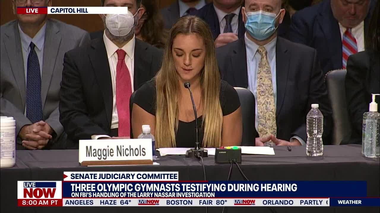 US gymnast, Larry Nassar survivor Maggie Nichols testifies on Capitol Hill